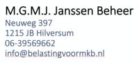 Logo van M.G.M.J. Janssen Beheer - administratiekantoor
